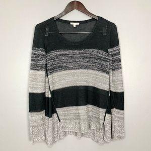Eileen Fisher Organic Linen Sweater Scoop Neckline